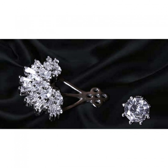 Reina Flutter Wing Zircon Studded Earrings