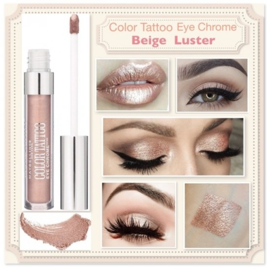 Maybelline Color Tattoo Eye Chrome - 510 Beige Luster