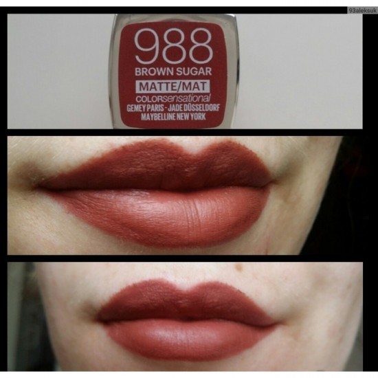 Maybelline Color Sensational Matte Lipstick - 988 Brown Sugar