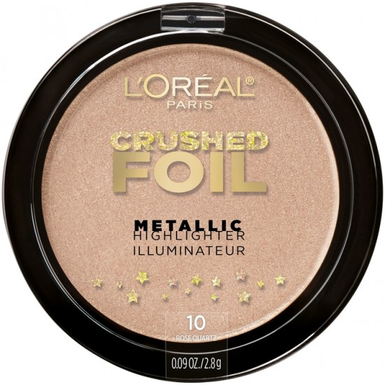 L'Oreal Crushed Foil Metallic Highlighter Illuminator - 10 Rose Quartz