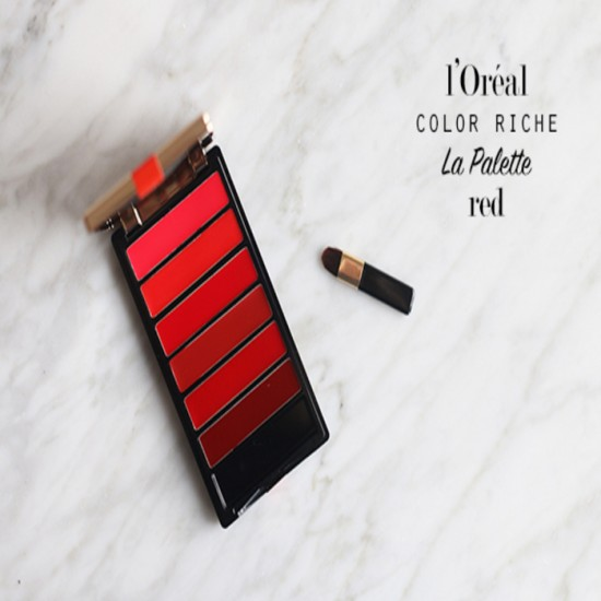 L'Oreal Color Riche La Palette Lips - Red