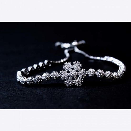 Reina Snowflake Silver Bracelet