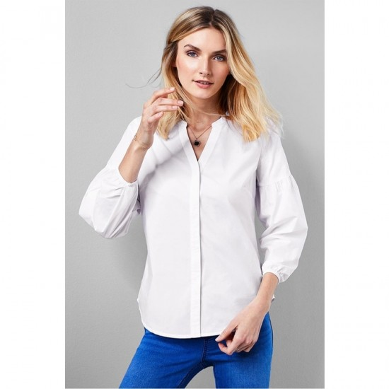 Women Long Sleeve Blouse 0112 - White