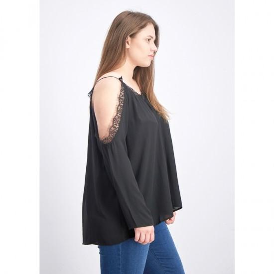 Women Cold Shoulder Lace Top - Unico