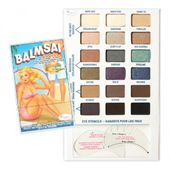 The Balm Balmsai Eyeshadow and Brow Palette with Shaping Stencils
