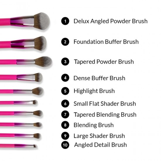 BH Cosmetics Midnight Festival - 10 Piece Brush Set