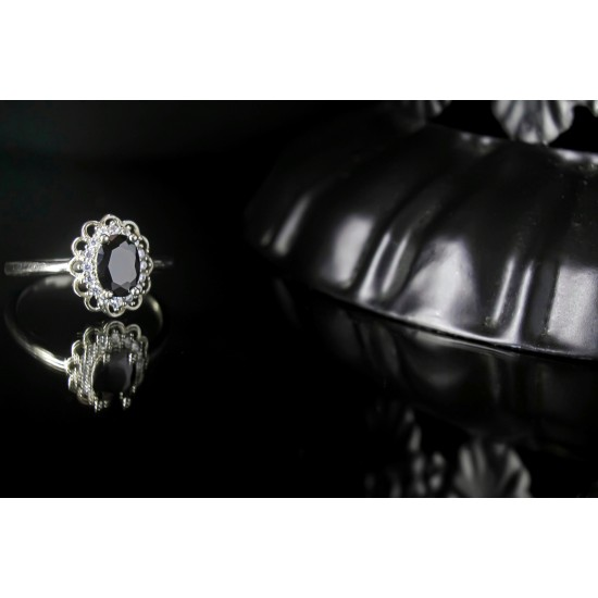 Reina Black Zircon Ring