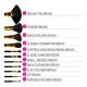 BH Cosmetics Black Dot - 11 Pieces Brush Set