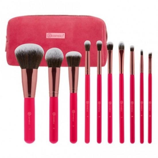 BH Cosmetics Bombshell Beauty - 10 Piece Brush Set
