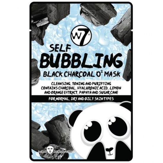 W7 Self Bubbling Black Charcoal O2 Mask