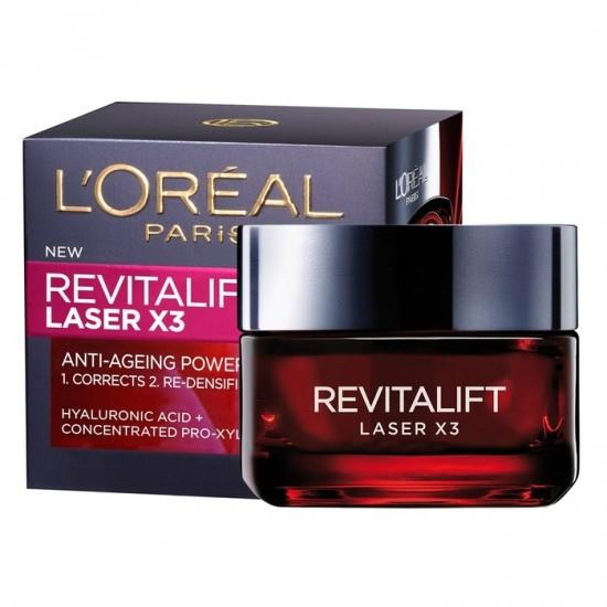 L'Oreal Revitalift Laser X3 Anti-wrinkle Day Face Cream - 50 ml