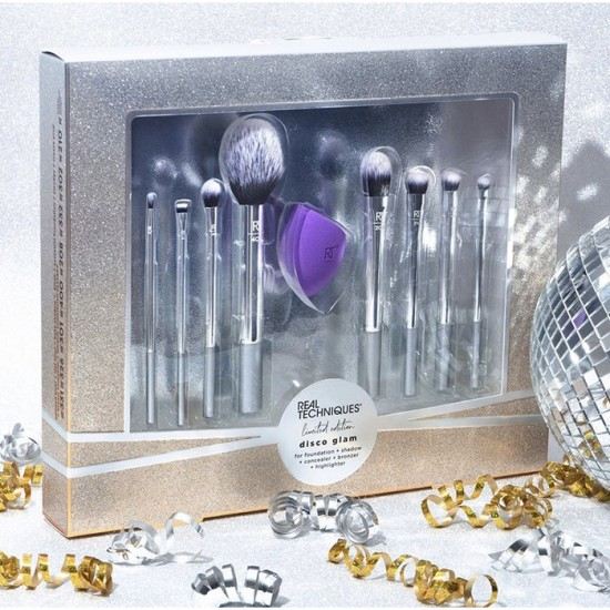 Real Techniques Limited Edition Disco Glam - 9 Pieces Brush Set