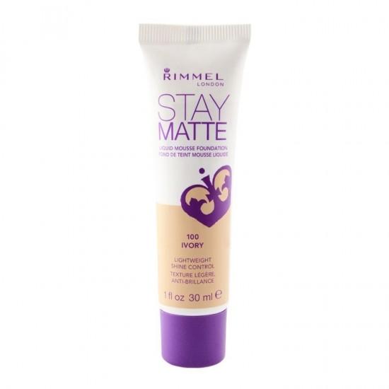 Rimmel Stay Matte Liquid Mousse Foundation - 100 Ivory