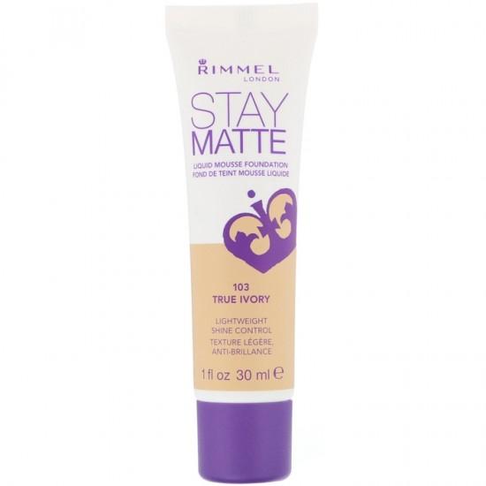 Rimmel Stay Matte Liquid Mousse Foundation - 103 True Ivory