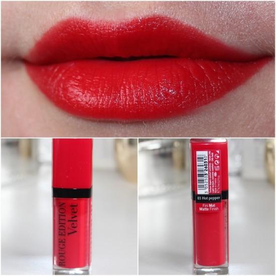 Bourjois Rouge Edition Velvet Lipstick - 03 Hot Pepper