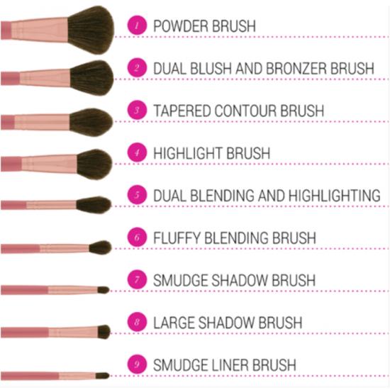 BH Cosmetics It Is My Raye Raye Brush Set - 9 Piece Brush Set
