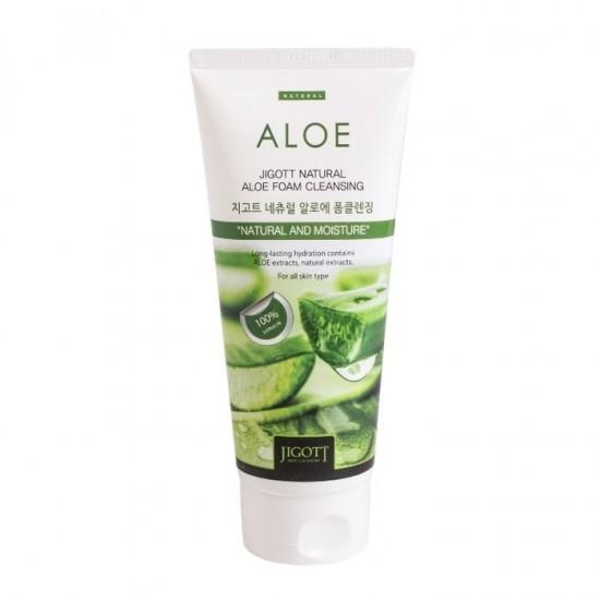Jigott Natural Foam Cleanser 180 ml - Aloe Vera