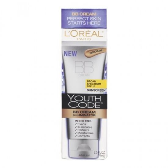 L'Oreal Perfect Skin Youth Code BB Cream - Medium