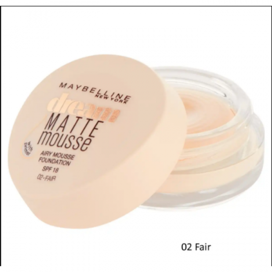 Maybelline Dream Matte Mousse Foundation - 02 Fair