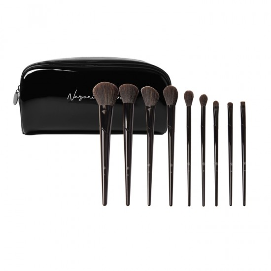 BH Cosmetics Nazanin Kavari - 9 Piece Brush Set with Bag