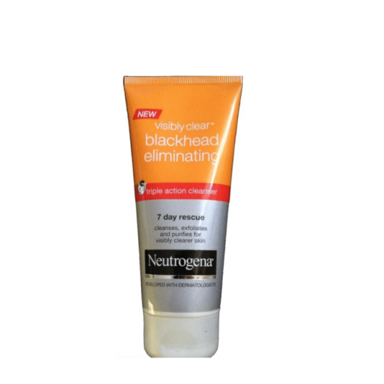 Neutrogena Visibly Clear Blackhead Eliminating 7 Day Rescue Triple Action Cleanser 100 ml