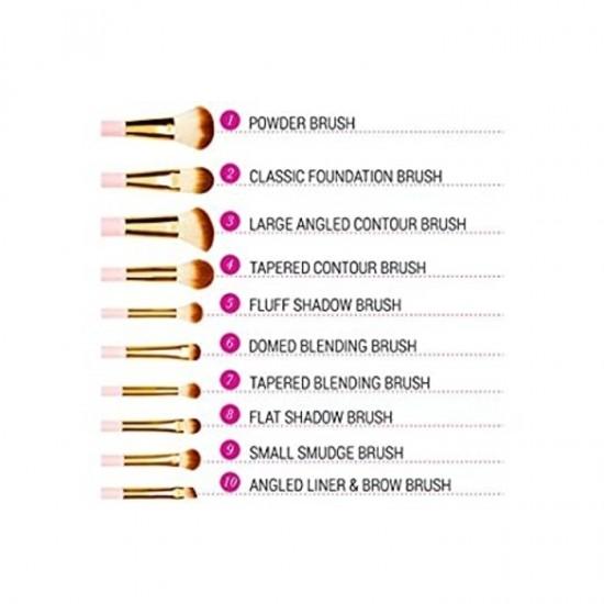 BH Cosmetics Pink Perfection Dark - 10 Pieces Brush Set