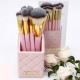 BH Cosmetics Pink Studded Elegance - 12 Pieces Brush Set
