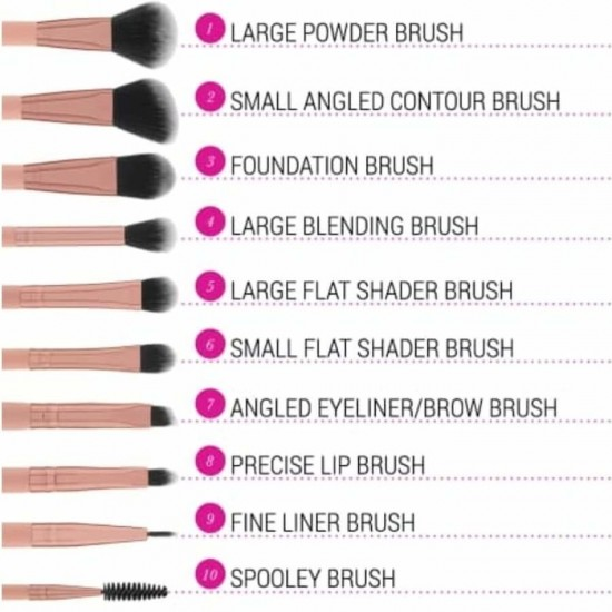 BH Cosmetics Pretty in Pink - 10 Piece Brush Set