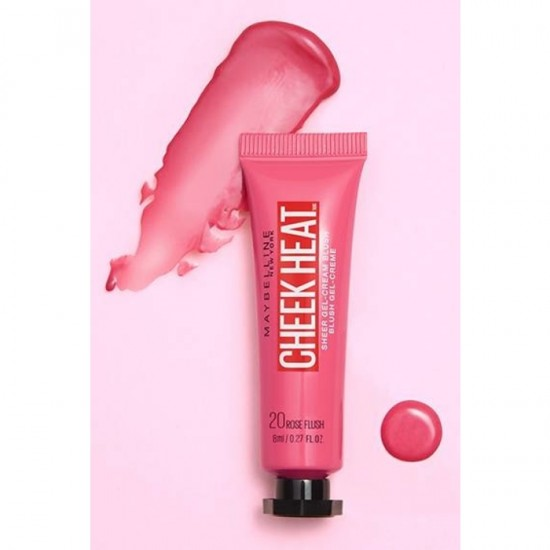 Maybelline Cheek Heat Blush - 20 Rose Flash