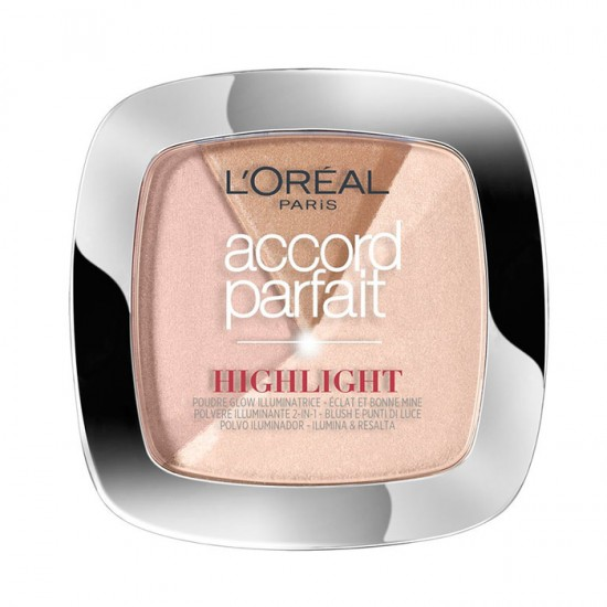 L'Oreal Accord Parfait Glow Illuminating Powder Highlighter - 202N Rosy Glow