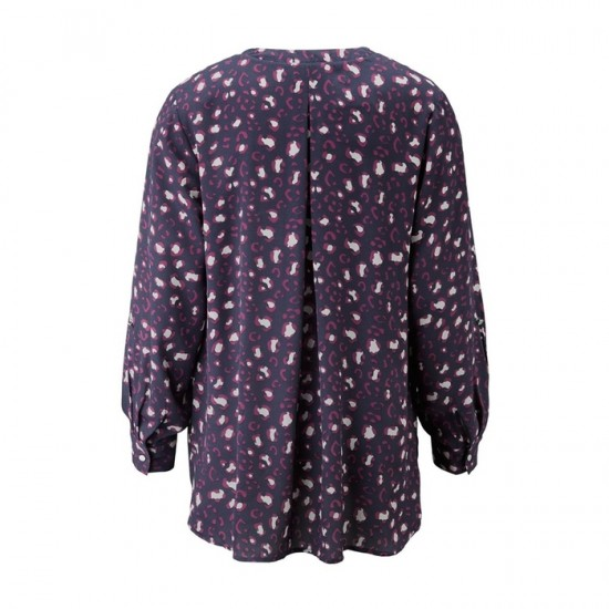 Women Tunic Blouse 0012 - Navy and Purple