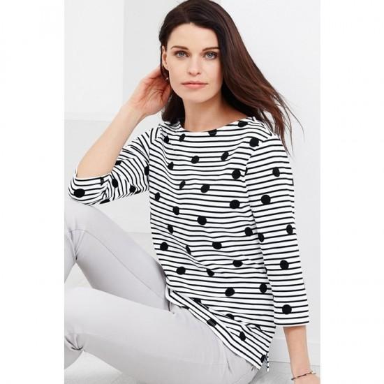 Women Blouse Shirt 0013 - Black and White