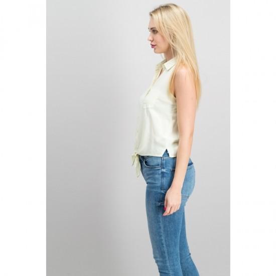 Women Button Down Shirt 0021 - Yellow