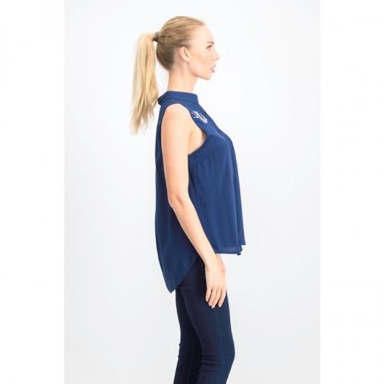Women Sleeveless Top 0022 - Navy Blue