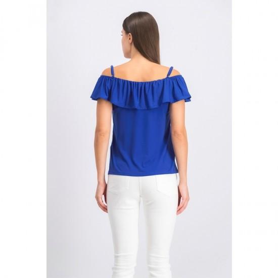 Women Off Shoulder Top 0024 - Blue