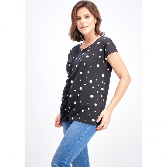 Women Printed Dot Blouse 0027 - Black and White