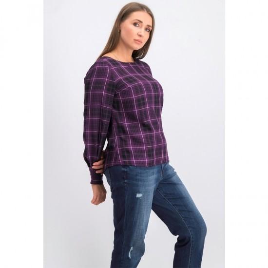 Women Long Sleeve Blouse 0037 - Purple