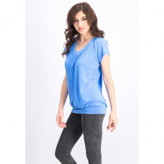 Women V-neck Blouson Tees 0050 - Marina