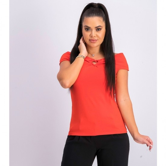 Women Off Shoulder Top 0083 - Red