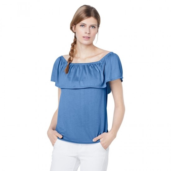 Women Off-Shoulder Top 0084 - Blue