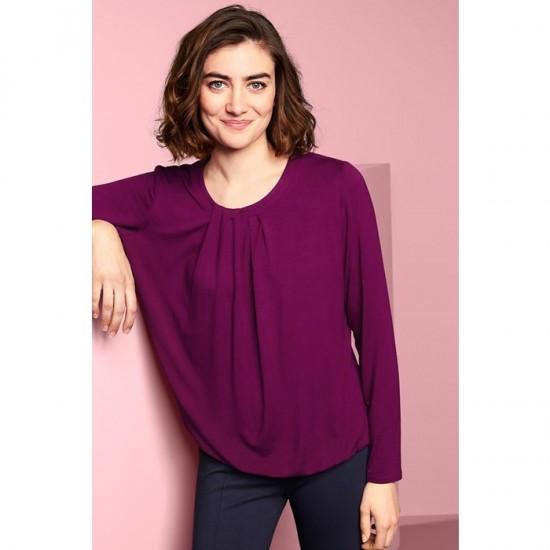 Women Long Sleeve Tops 0091 - Berry