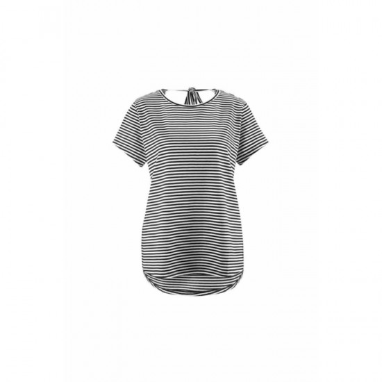 Women Striped Shirt 0092 - Black and White