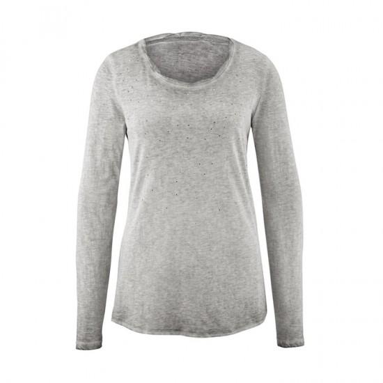 Women Long Sleeve Shirt 0100 - Grey