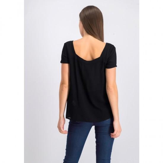 Women Boho Style Top 0017 - Black