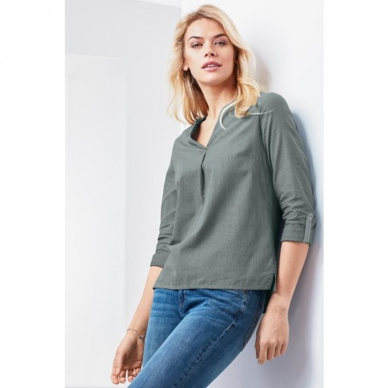 Women Tunic Blouse 004 - Sage Green