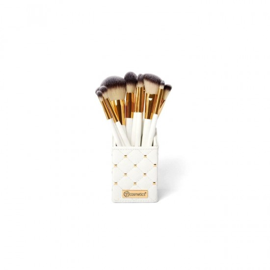 BH Cosmetics White Studded Elegance - 12 Piece Brush Set