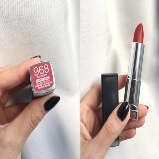 Maybelline Color Sensational Matte Lipstick - 968 Rich Ruby